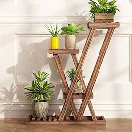 wood Plant stand new