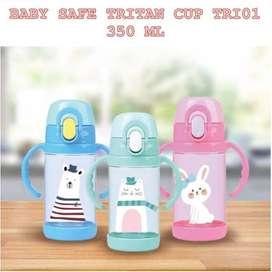 Baby Safe TRI01 Tritan Straw Cup 350ml botol minum baby safe
