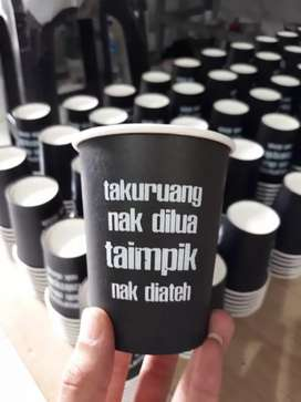 Printing gelas kertas unik kekinian PAPER CUP 12oz