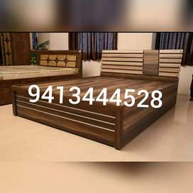 New wooden designer front double bed