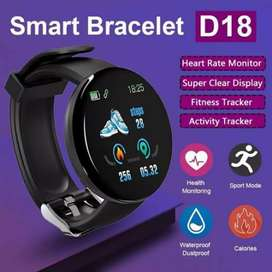 D18 Plus Smart Watch Fitness & Heart Tracking Band