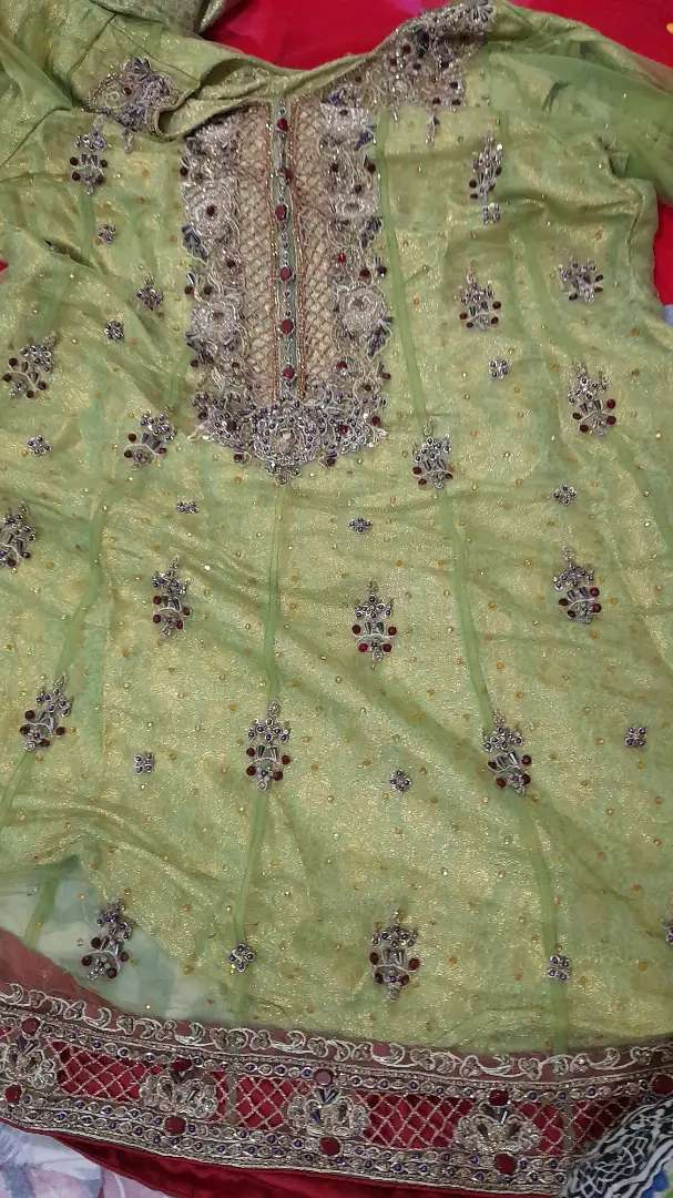 Embroided dress for party wear only one time used