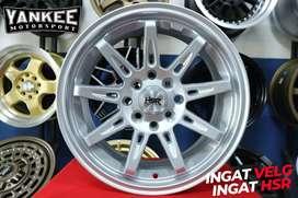 Velg Mobil Nissan March Ring 16 Model Terbaru HSR TIKALA Silver