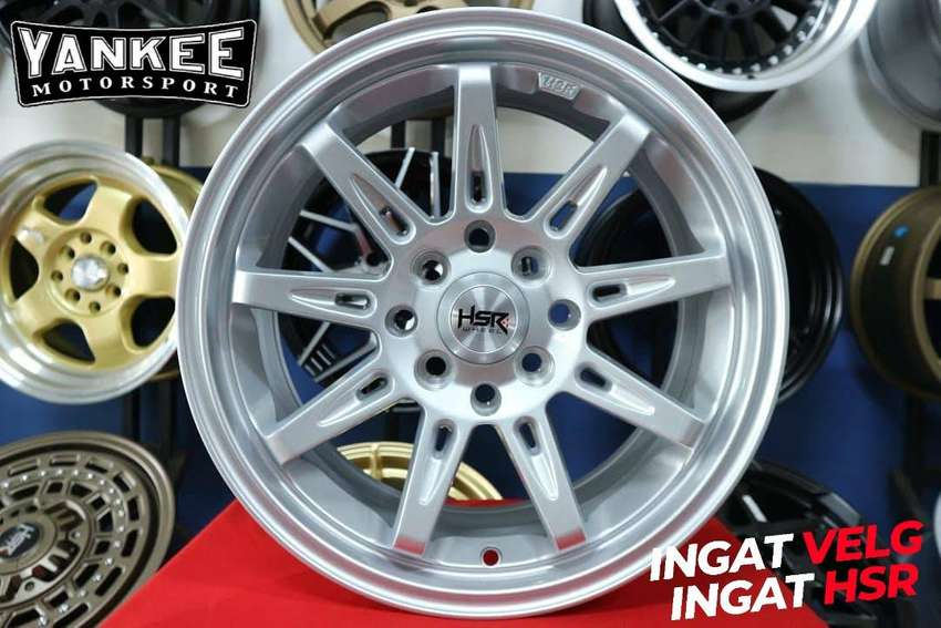 Velg Mobil Nissan March Ring 16 Model Terbaru HSR TIKALA Silver