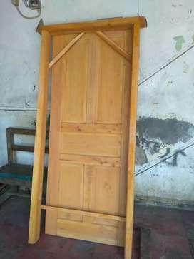 Jual pintu kusen baru bagus,terjangkau dan asli solid kayu