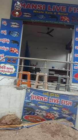 Fish shop selling