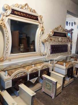 Sofa, bed, dressing, showcase and daining tables etc