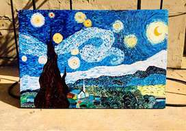 """""""A Starry Night""""   by Vincent van Gogh"""
