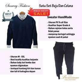 AM00219 Celana Setelan Satu set Sweater dan celana jogger