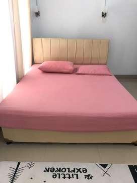 Tempat Tidur Set Spring Bed Dipan Headboard