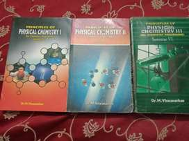Text books of bsc chemistry, botany, zoology,English