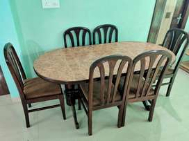 6 Seater Wooden Dining Table Set with Chairs for Sale!!
