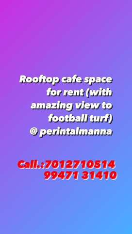 ROOFTOP CAFE WITH  VIEW TO TURF