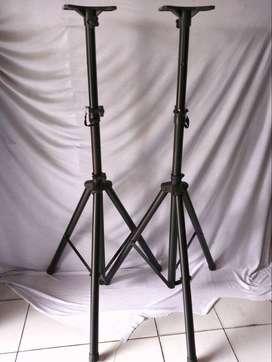 stand speaker hitam berat bahan tebal