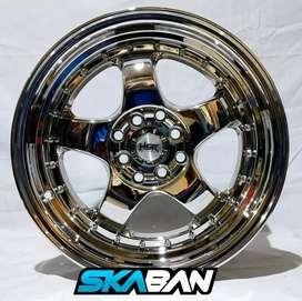 Jual velg racing HSR croom Ring 16 untuk mobil Brio,Jaaz,Yaris,mobilio