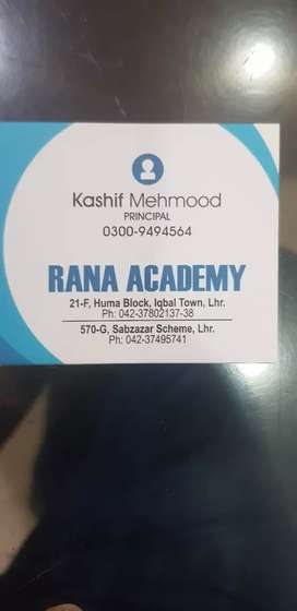 Tutor in Rana Academy