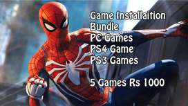 Games Installation Bundle PS4 - P/C PS3