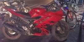 R15 V2 model 2016 shine red colour body.