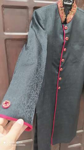 Stylish Sherwani with Turban & Khussa  (Urgent Sale)
