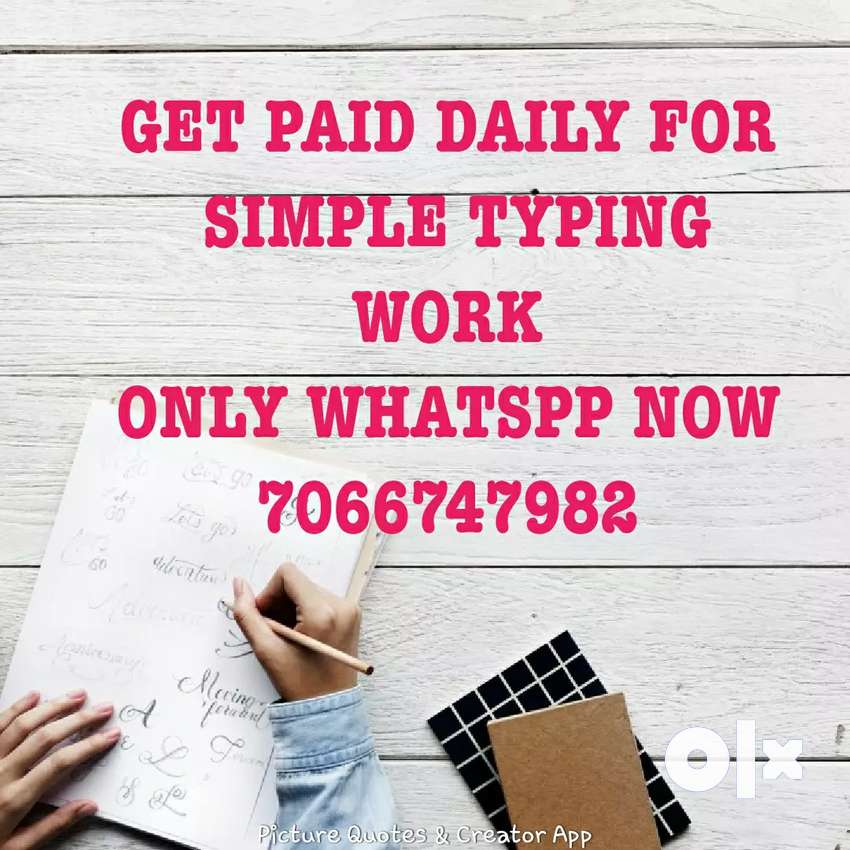 Typing work with daily payment 0