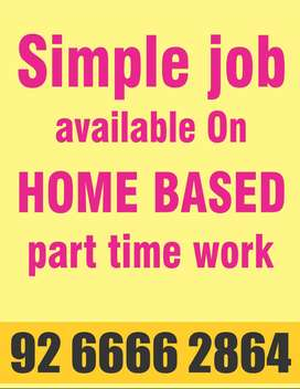 Secure ur future part time working home based salary provide account