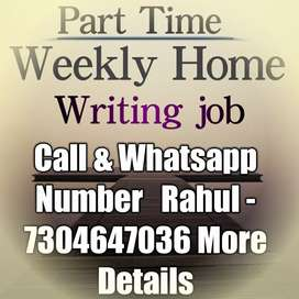 Part time job Simply Hand writing Home besd
