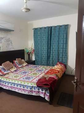 One bedroom furnished flate for single female on sharing basis