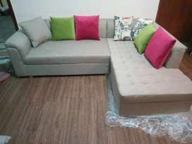 L Shep sofa new brand 6year foam warranty