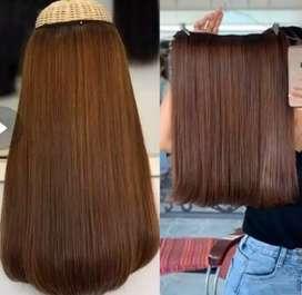 Hair Clip rambut asli tinggal klip mudah cantik ukuran 30-70cm