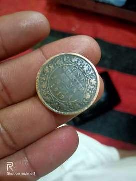 One Quarter Anna INDIA 1919