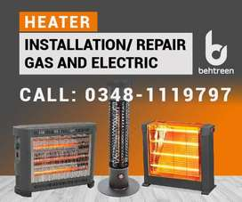 Electric and Gas room Heater and Installation