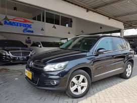 Vw Tiguan 1.4Tsi 2014 nik 14 Hitam black highline Full spec km 36rb