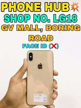 IPhone Xs Max (256GB) Gold Face Id Does'nt Work Available In Cheap vlu
