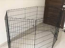 Dog big cage , 4 month used brand new
