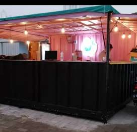 Booth Container Container cafe Container coffee shop Container minuman