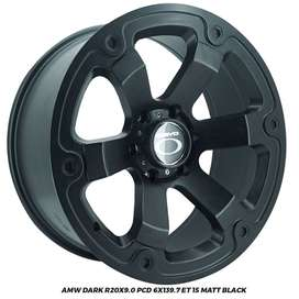Velg Everest Fortuner Pajero Triton AMW Dark. R20X9 hole 6x139.7 ET 15