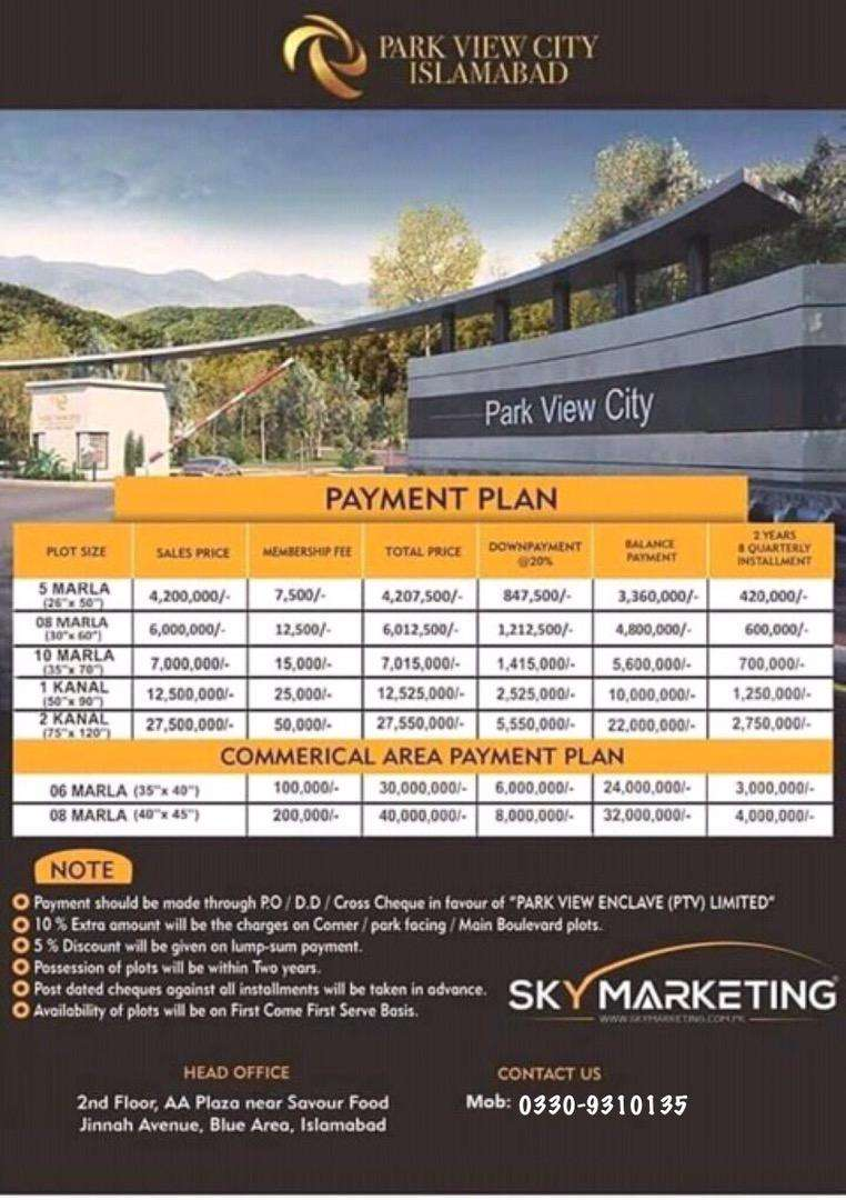 Book your dream property in the heart of Islamabad (Park View City). 0