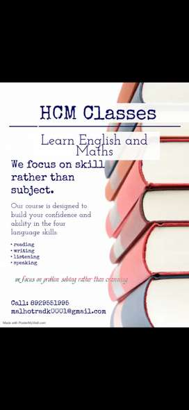 ENGLISH AND MATHS CLASSES FOR CLASSES UPTO 10