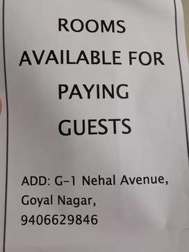 Rooms available for paying guests