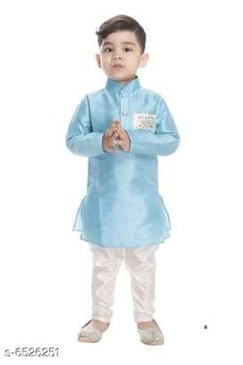 NEW GEN  BOYS FESTIVE & CASUAL KURTA Top Fabric: Chanderi Si