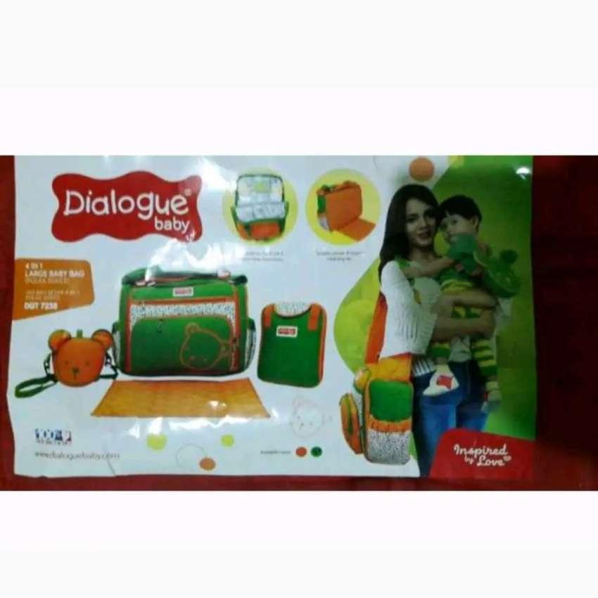 Tas bayi besar dialogue baby 4 in 1 polka series orange hijau 0