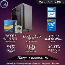 PC Rakitan Office ALLNEW Intel I3 2120 RAM 4GB DDR3 SSD 120GB Ready