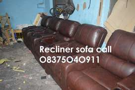 New - Recliner sofas in leather and fabric, Electric recliner chair