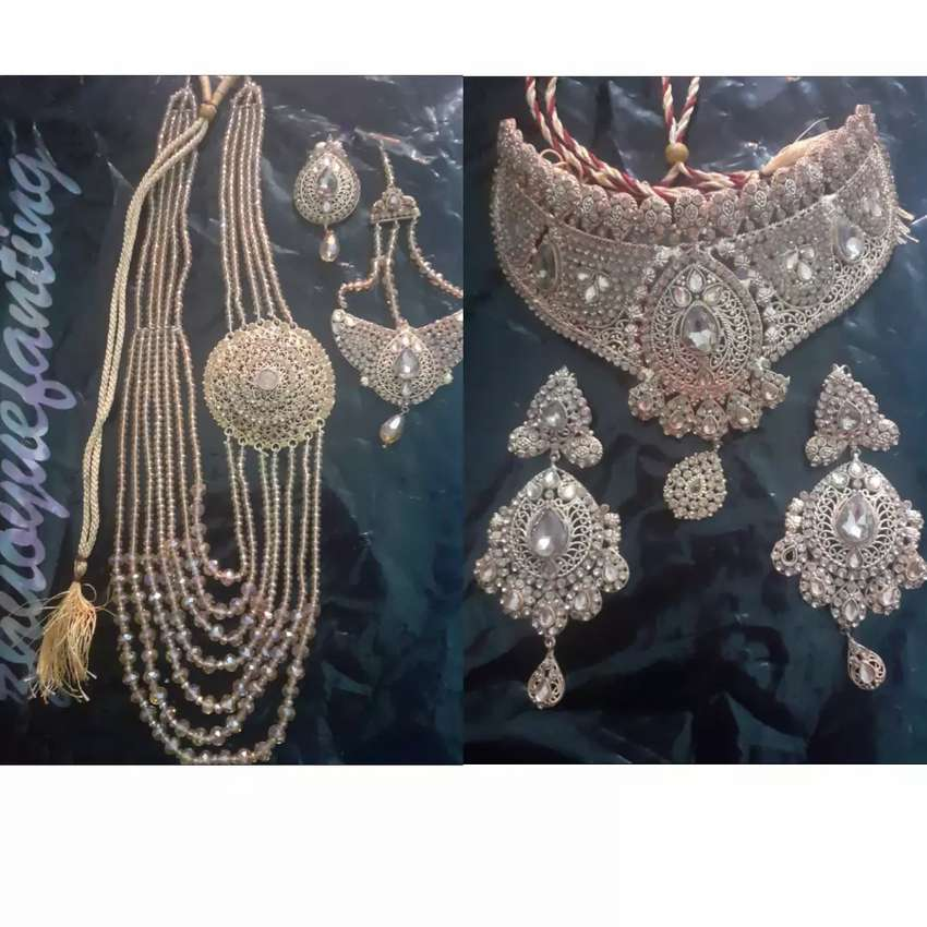 Golden colour Indian jewelry  price 17,00 0
