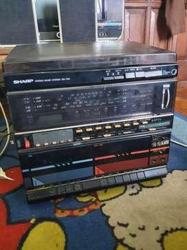 Compo Tape SHARP turntable piringan hitam langka