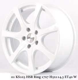 new MISATO 01 KS103 HSR R17X7 H5X114,3 ET40 WHITE