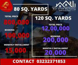 Plots available on installment in surjani town