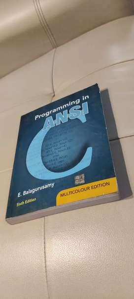 Programming in ANSI C by E Balaguruswamy