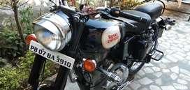 Royal Enfield black bike