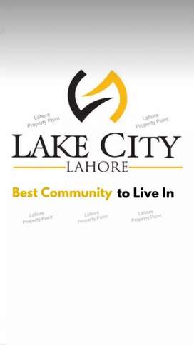 Lake city 5 marla plot on easy installments booking with 7 lac